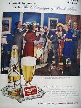 Miller Beer Burning The Mortgage Ad 1949