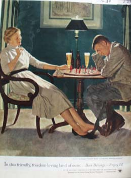 U S Brewers Foundation And Chess  Players Ad 1945