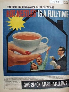 Nestles Don't Put Cocoa Away Ad 1958