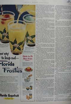 Florida Grapefruit New Way To Keep Col Ad 1952