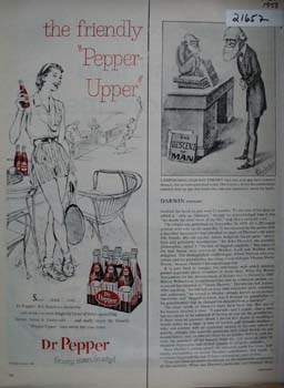 Dr Pepper Lady At Tennis Court Ad 1958