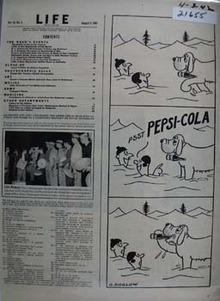 Pepsi Cola and Rescue Dog Ad 1942