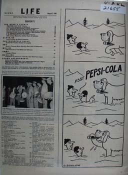 Pepsi Cola and Rescue Dog Ad 1942