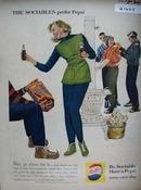 Pepsi Cola Go Where Fun Is Ad 1960