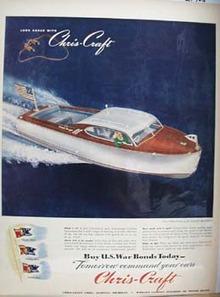 Chris Craft Custom Sportsman Ad 1945
