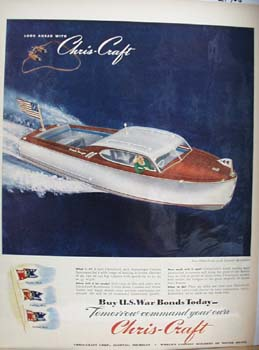 Chris Craft Custom Sportsman Ad 1945