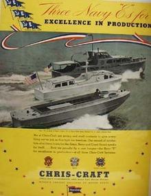 Chris Craft Three Navy E s Ad 1952