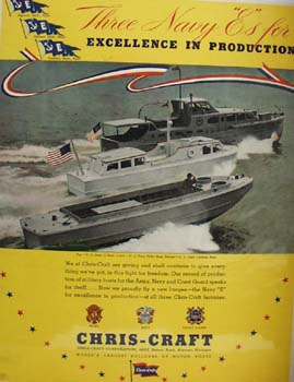 Chris Craft Three Navy E s Ad 1952