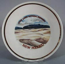 White Sands National Monument souvineer plate