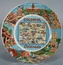 Colorful Colorado Souvineer plate