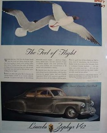 Lincoln The Feel of Flight Ad 1941