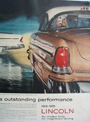 Lincoln Outstanding Performance Ad 1955