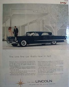 Lincoln New In Fact Ad 1958