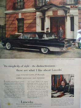 Lincoln And General Romulo 1959