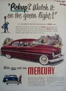 Mercury Watch It On Green Light Ad 1949