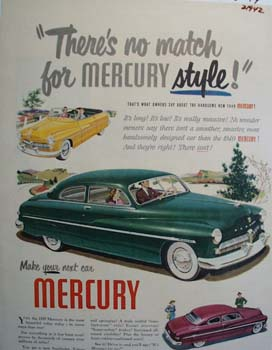 Mercury No Match For Style Ad 1949