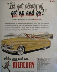 Mercury Plenty Get Up And Go Ad 1949