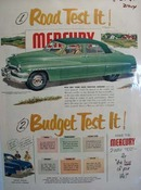 Mercury Road Test It Ad 1951