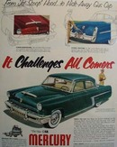 Mercury Challenges All Comers Ad 1952