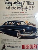 Mercury Easy Riding Ad 1948