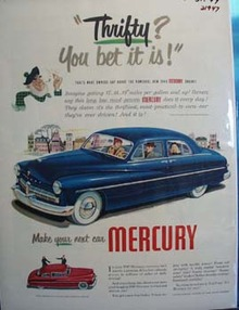 Mercury is Thrifty Ad 1949