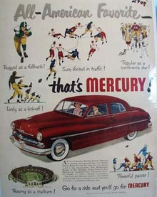 Mercury All American Favorite Ad 1950