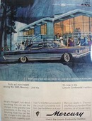 Mercury And Squaw Valley Lodge Ad 1964