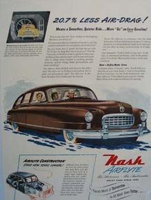 Nash Less Air Drag Ad 1950