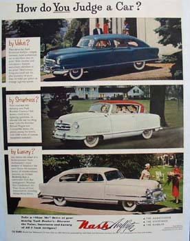 Nash How Do You Judge A Car Ad 1951