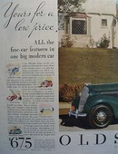 Oldsmobile Yours For A Low Price Ad 1935