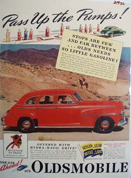 Oldsmobile Pass Up The Pumps Ad 1941