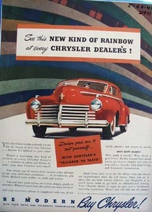 Chrysler New Kind of Rainbow Ad 1941