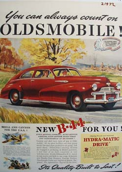 Oldsmobile You Can Always Count On Ad 1941