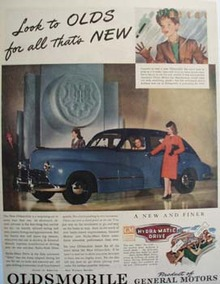 Oldsmobile For All thats New Ad 1945