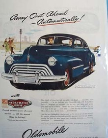 Oldsmobile Away Out Ahead Ad 1946