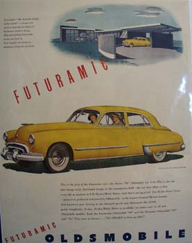 Oldsmobile Futuramic Ad 1948