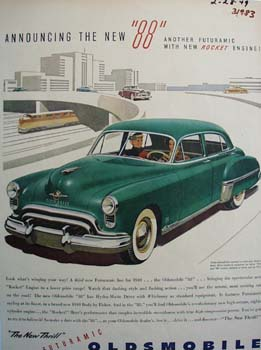 Oldsmobile Announcing The New 88 Ad 1949