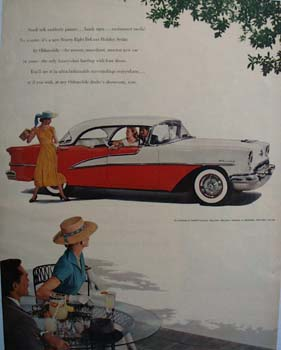 Oldsmobile Small Talk Pauses Ad 1955