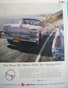 Oldsmobile Trust The Wheel Ad 1958