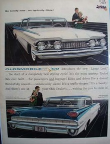 Oldsmobile So Totally New Ad 1958