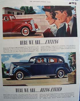 Packard Here We Are Envying Ad 1937