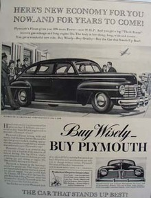 Plymouth Heres New Economy for You Ad 1941
