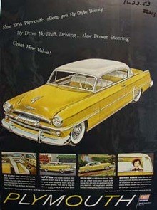 Plymouth Hy Style Beauty Ad 1953