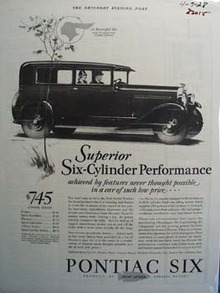 Pontiac Superior Six Cylinder Ad 1928