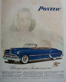 Pontiac Make A Sweetheart Your Own Ad 1949