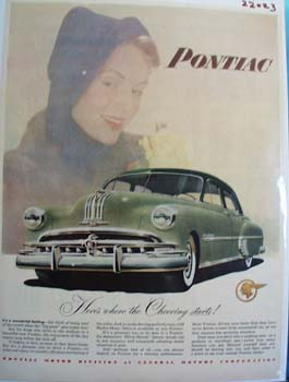Pontiac Here Is Where Cheering Starts Ad 1949