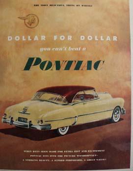 Pontiac Dollar For Dollar Ad 1950