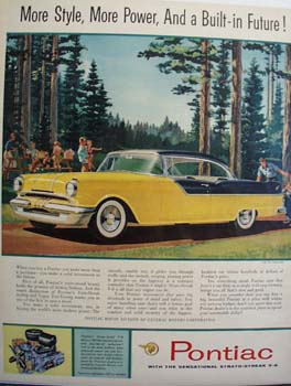 Pontiac Built In Future Ad 1955