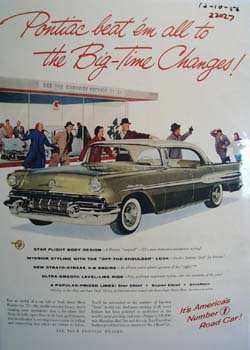 Pontiac Big Time Changes Ad 1956