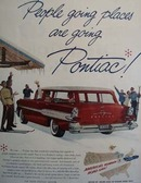 Pontiac People Going Places Ad 1957